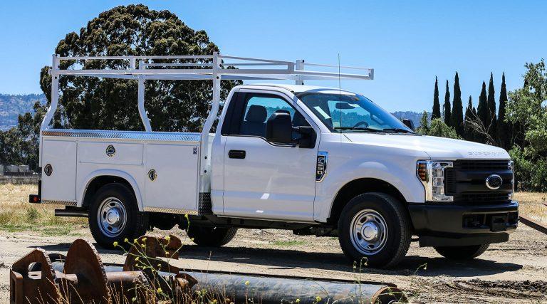 9 foot low profile SRW body by Royal Truck Body