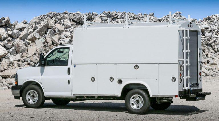 RSV 11 foot 55 inch tall SRW cutaway mount body by Royal Truck Body
