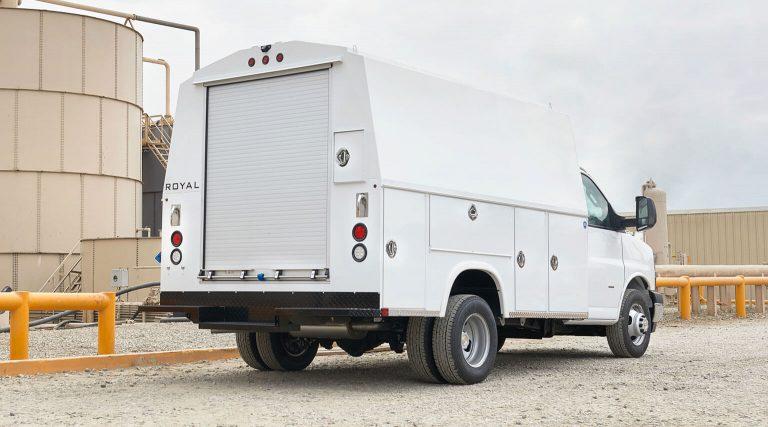 RSV 11 foot 68 inch tall DRW cutaway mount by Royal Truck Body
