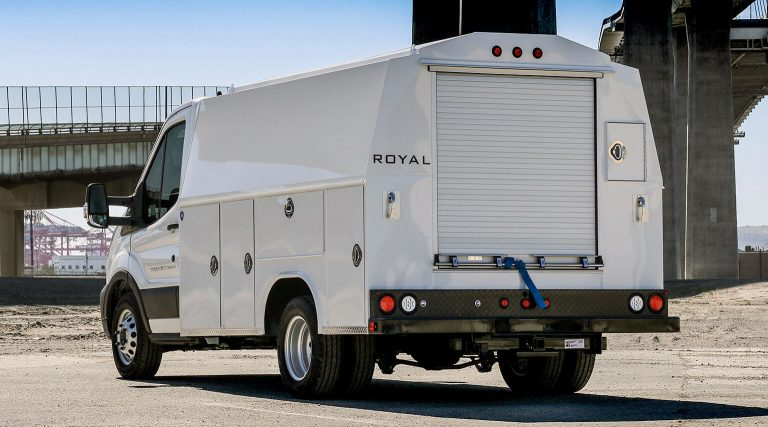 Transit 125 Super Structure 60 inch tall DRW truck body by Royal Truck Body